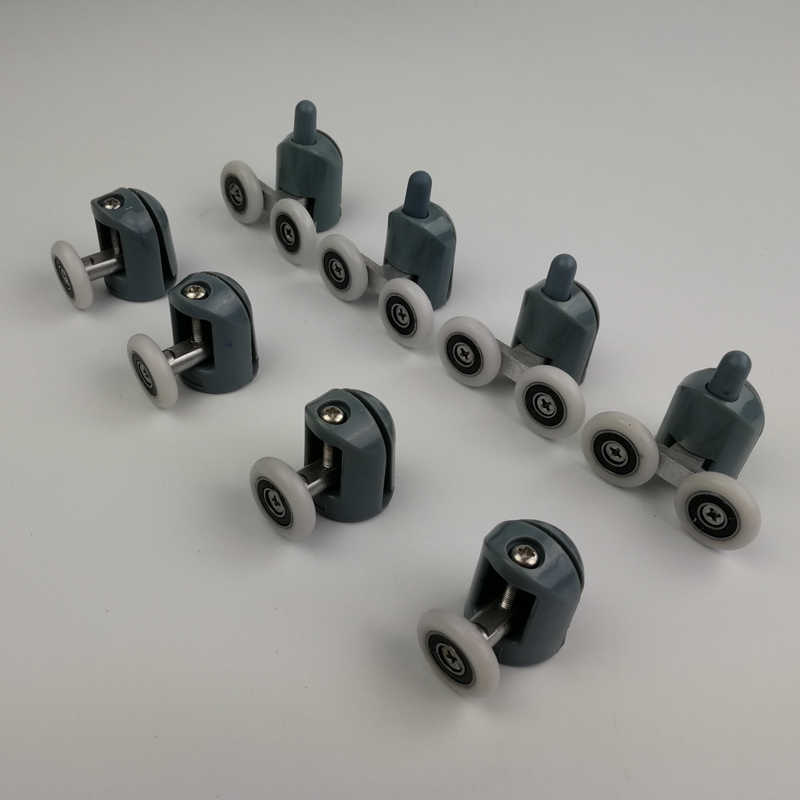 6//8PCS Sliding Screen Shower Door Rollers Runners Wheels Replacement 23//25//27mm