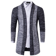 Foreign trade new men's classic 2017 winter color cardigan sweater cuff placket Korean Y35