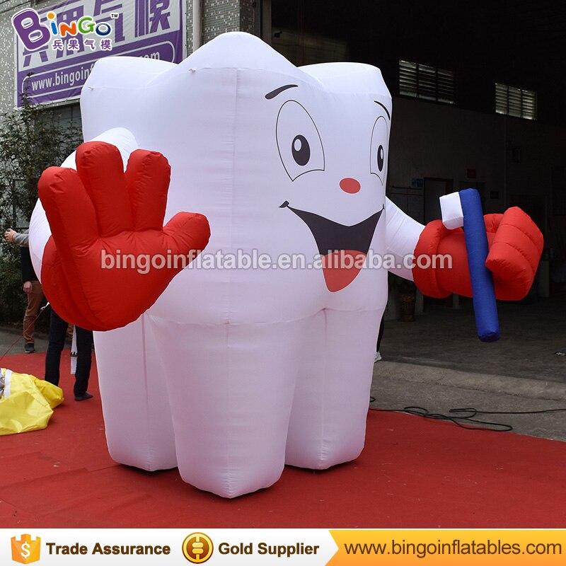 Ballon gonflable de dent du modèle 2.5 M de dent gonflable de publicité avec la brosse à dents modèle adapté aux besoins du client de dents pour le jouet de santé de dentiste N