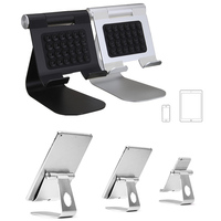 Luxurious Aluminum Alloy Mobile Phone Durable Bracket Adjustable Play Stand Sucker Holder Universal For IPad Phones