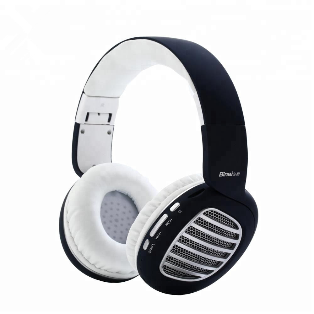 BINAI V79 Over-Ear Wired Wireless bluetooth Headphone Type C to AUX Foldable  bluetooth4.2 Headset with Mic Handfree Super Bass