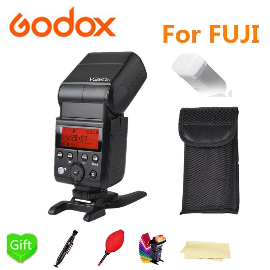 Godox V350F Flashes Speedlite Built-in 2.4G Wireless X System TTL 1/8000s HSS Li-ion Battery Flash For Fujifilm Fuji CamerasGodox V350F Flashes Speedlite Built-in 2.4G Wireless X System TTL 1/8000s HSS Li-ion Battery Flash For Fujifilm Fuji Cameras