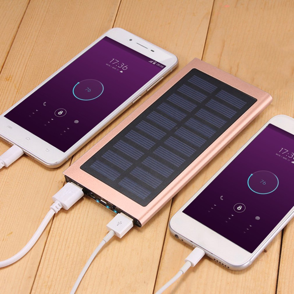 Universal Ultra Thin Solar Powered External Power Bank 4000mAh/6000mAh Polymer Battery Dual USB Charger Supply For Smart Phones чехол для сотового телефона samsung galaxy s8 clear cover violet ef qg950cvegru