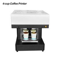 Máquina de impressão do alimento da impressora do café das selfies do copo 4 para a impressão do iogurte do pão do biscoito da pizza do bolo do latte