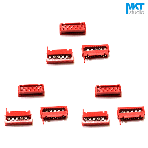 10Pcs Micromatch Red <font><b>2.54mm</b></font> Pitch <font><b>Female</b></font> IDC Box Header <font><b>Connector</b></font> Sample 4P 6P 8P 10P 12P 14P 16P 18P 20P 22P 24P 26P image