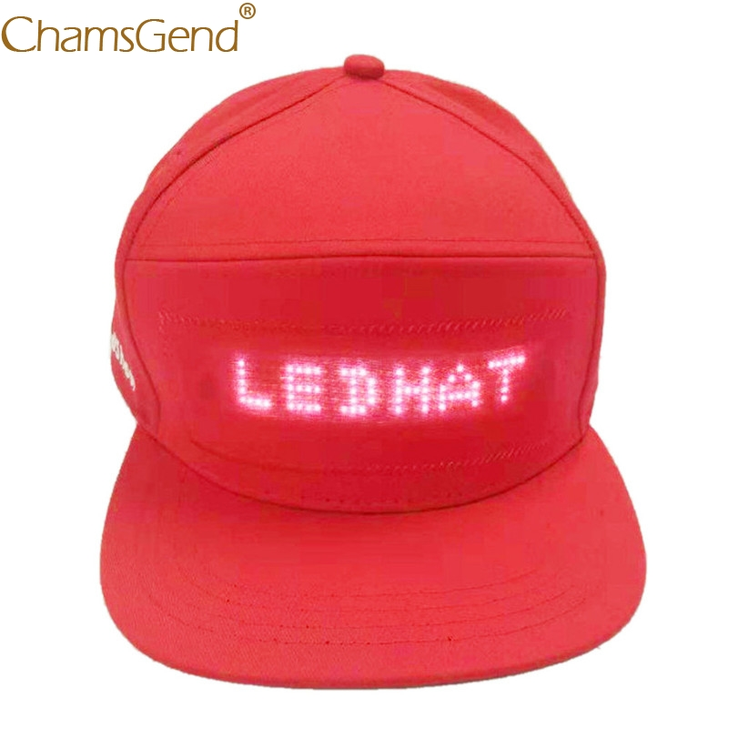 26da3a6fd HOT SALE] Hat With LED Display Men Baseball Caps New Year's Party ...