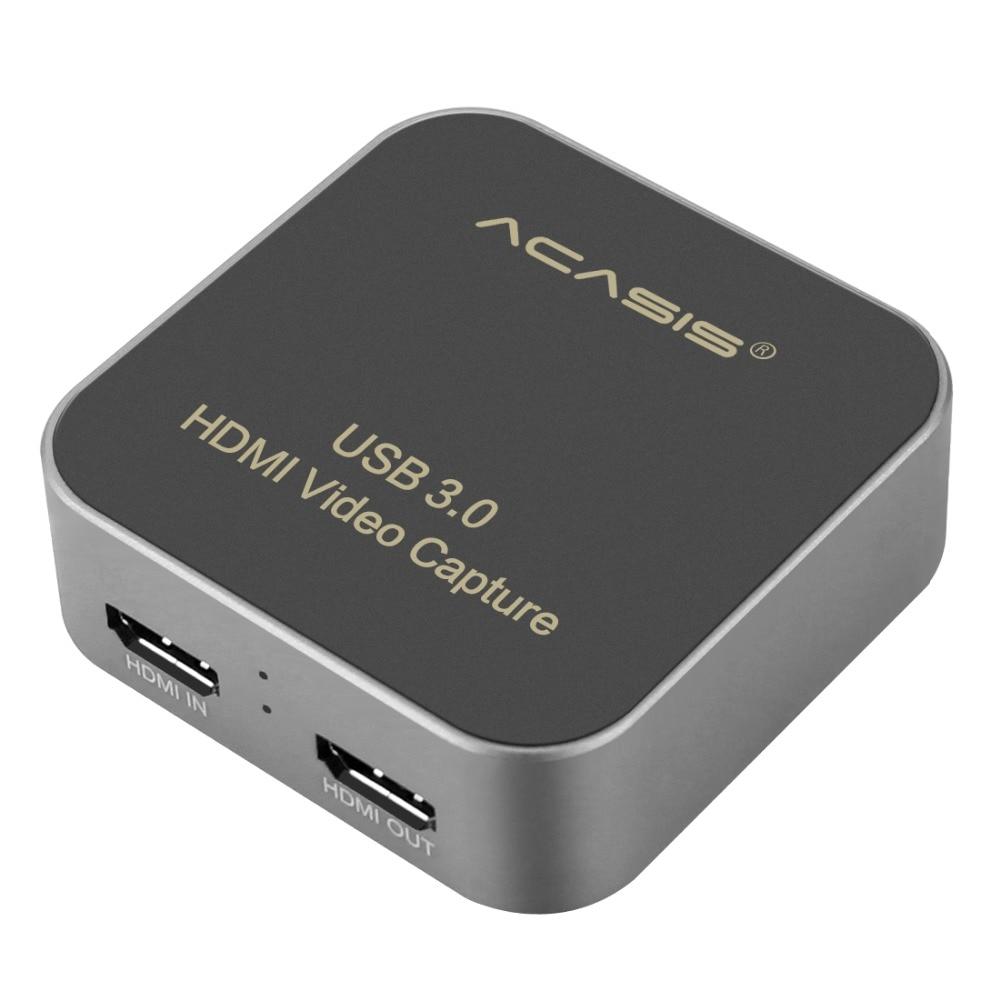 AC-HDCP USB 3.0 HDMI à type-c 1080P HD boîte de carte de Capture vidéo sans lecteur pour TV PC PS4 jeu en direct pour Windows Linux Os X
