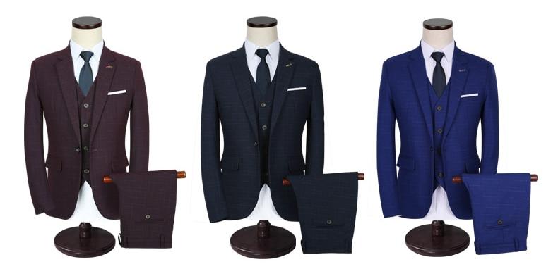 Costume Hommes Slim Pantalon Loisirs Gilet Cd30 Masculino Terno Classique rouge Formelle Taille Fit Jaquetas Noir Pus blazer bleu D'affaires Casaco Costumes 5xl 0SBCw0q