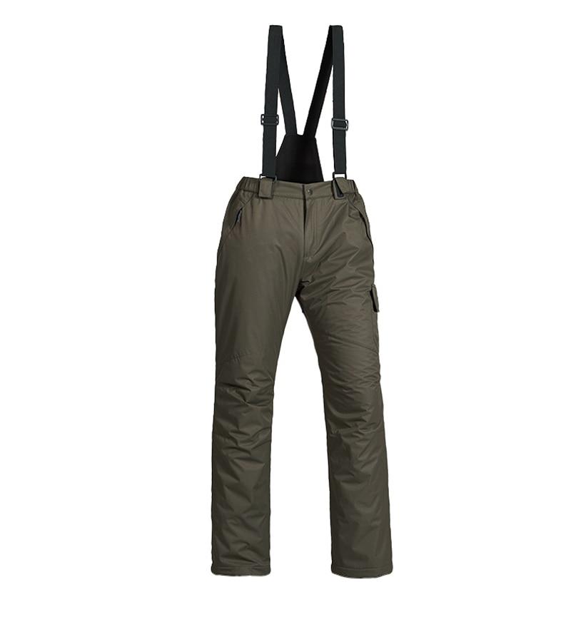 New Outdoor Sports Fleece Men Ski Pants Suspenders Windproof Waterproof  Warm Thicken Winter Snow Snowboard Trousers 2290109a9
