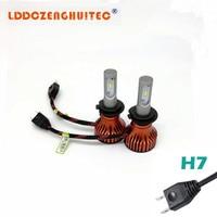 LDDCZENGHUITEC T8 H4 Car LED Headlight Bulbs 60W 8000LM ZES Chips LED H4 Hi Lo Beam Automobile Headlamp 6500K 12V for Kia Toyota