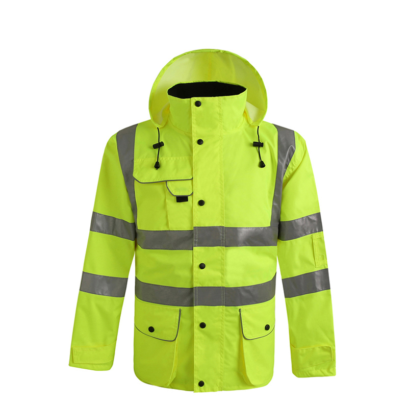 Men's Waterproof High visibility rain jacket safety rain coat reflective with pockets chen yangquan remote sensing and actuation using unmanned vehicles