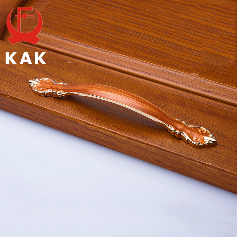 KAK European Aluminum Alloy Cabinet Handles Wadrobe Door Pulls Drawer Knobs Kitchen Cupboard Handles Furniture Handle Hardware in Cabinet Pulls from Home Improvement