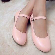 Simple удобные плоские туфли милая девушка мило лолита принцесса обувь мэри джейн обувь весна 2017 новый