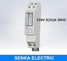 220V/230V 5(32)A 50HZ Single Phase Din Rail Energy Meter Analog Kwh Meter Household Step Register Watt Hour Meter