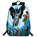 New 16 Inch Cartoon Children Backpacks Batman Avenger Backpack for Boys Student School Bags Legos Mochila for Teenage Kids