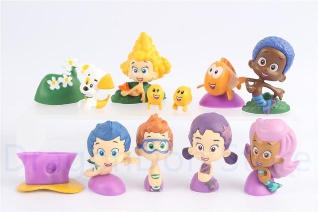 bubble guppies mini figure set of 12 w gil molly bubble puppy etc rh aliexpress com bubble guppies bath set