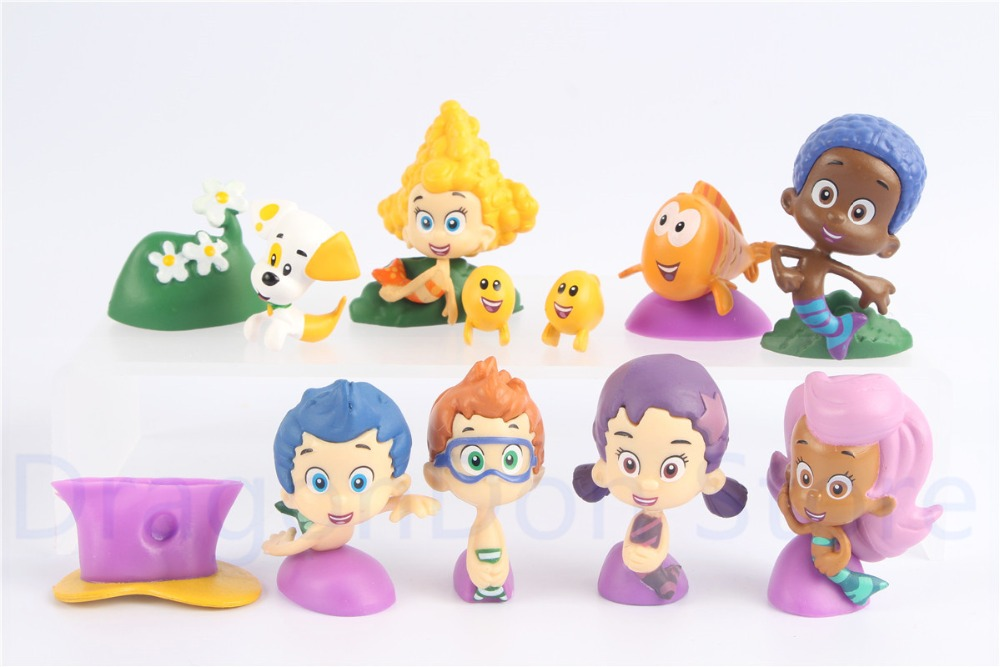 Bubble Guppies Mini Figure Set of 12 w/ Gil, Molly, Bubble Puppy Etc Kids Toys