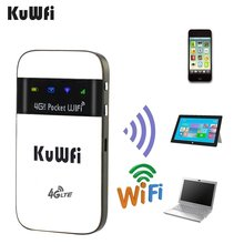 KuWfi 4G Wifi Router 3G/4G LTE Wireless Wifi Router for Travel  Mobile 4G Wi-fi Hotspot  Mini LTE Modem With SIM Card Solt kuwfi 4g lte wifi router mini portable 4g dongle car wireless wi fi router 4g lte usb car modem router with sim card slot
