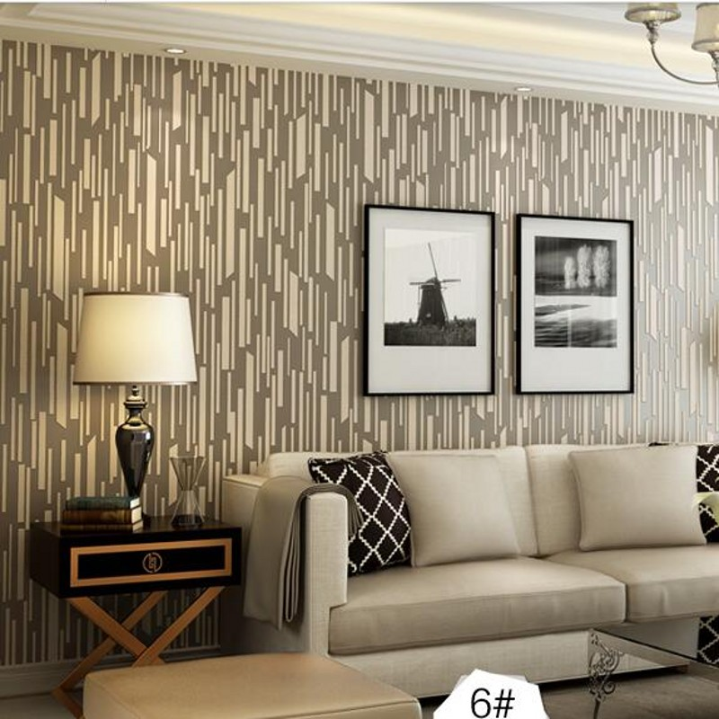 beibehang papel de parede Vertical stripes modern minimalist bedroom living room sofa TV background 3D wall paper wallpaper beibehang papel de parede romantic garden fresh rattan non woven bedroom living room sofa background wallpaper 3d wall paper