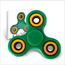 สีเขียวปั่นอยู่ไม่สุขของเล่นUltra fastที่เงียบสงบแบริ่งเซรามิกEDC antistressโฟกัสของเล่นมือปั่นสำหรับเด็กผู้ใหญ่YH796-3