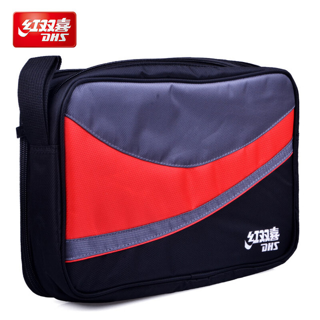 DHS table tennis bag double layers for 2 rackets ping pong case