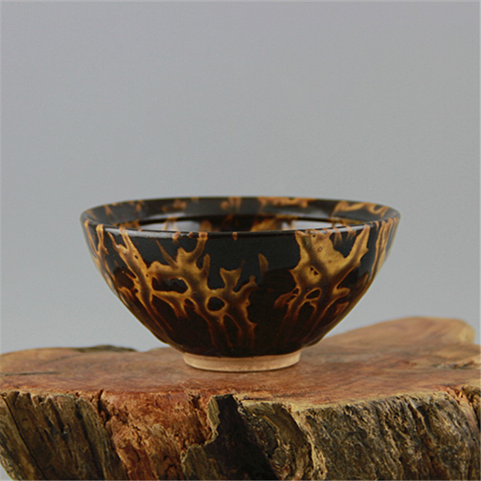 Song Ji Zhou kiln, tortoise shell, glaze, tea bowl, flower glaze and tea cup are used as antique porcelain. ...