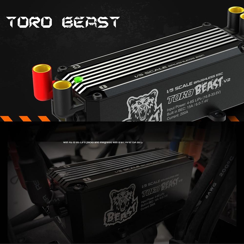 SKYRC TORO bestia V2 200A sin escobillas ESC 8 S programable Biult in BEC para 1/5 RC todoterreno Coche espaà a-in Partes y accesorios from Juguetes y pasatiempos    2