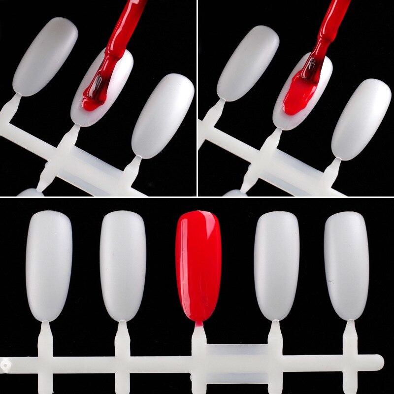 10pcs/set Fashion Makeup False Nail Displays Oval Scrub Showing Shelf Nail Gel Polish Color Card Plastic Nail Art Practice Tools 2