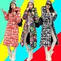 Lindo!! 2016 Nova Outono Inverno Projeto Casaco Grosso Acolchoado Para Baixo Algodão Plus Size Casaco Fino Zíper Com Capuz Roupas Femme