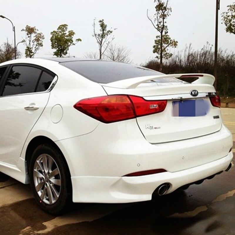купить For Kia Forte K3 Spoiler High Quality ABS Material Car Rear Wing unpaint Color Rear Spoiler For Kia Forte K3 Spoiler 2012-2015 по цене 2325.51 рублей