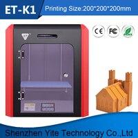 2018 ET K1 best 3D принтеры Китай машины 200x200 мм Большой Размеры кровать нагревателя печать PLA ABS ТПУ Mutil нити Мощность поставщиком 24 В