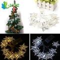 Funciona Con Pilas 1.2 m 10 Estrellas LED Hadas de la Secuencia de Luces de Navidad Decoración