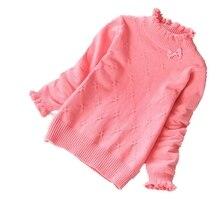 Новые свитера для девочек на осень и зиму модная детская одежда из хлопка детские хлопковые свитера для детей 2-14 лет