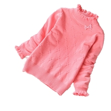 2020 nowe jesienne i zimowe dziewczęce swetry modna bawełniana odzież dziecięca dziecięce bawełniane swetry 2-14 lat dziecko tanie tanio aliangstory Na co dzień spandex COTTON Golfem Dziewczyny 1258 Pełna Łuk Stałe REGULAR Pasuje prawda na wymiar weź swój normalny rozmiar