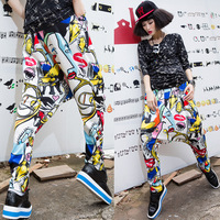 Baalmar Kids Adult Brand Spring Summer Sweatpants Costumes Colorful Patchwork Panelled Jazz Trousers Harem Hip Hop