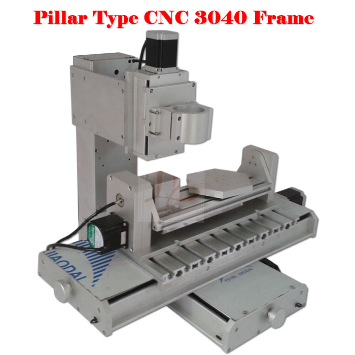 3040 pillar type 5 axis CNC frame carving machine kit ball screw cnc frame kit cnc 3020z diy frame with ball screw optical axis and bearings for cnc milling machine