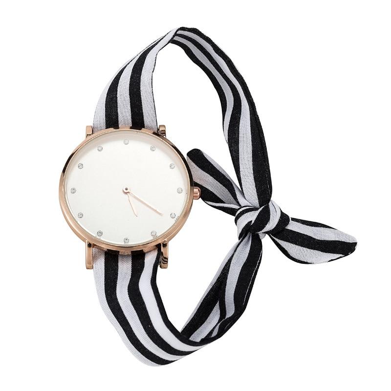 GUOTE Rhinestone Dial Beach Women Watch Ladies Fashion Casual Ribbon Quartz Bracelet Watches Super-thin Dropshipping Dress Clock