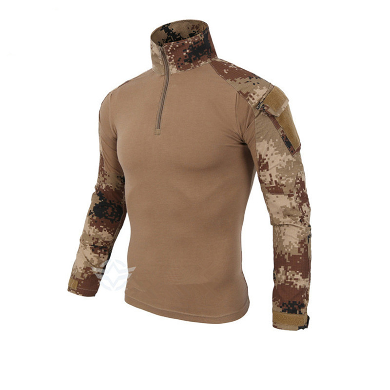 Outdoor Men s US Army Tactical uniform Combat Thicked Long Sleeve T Shirt Wargame Military Tops T Shirts top without knee pads