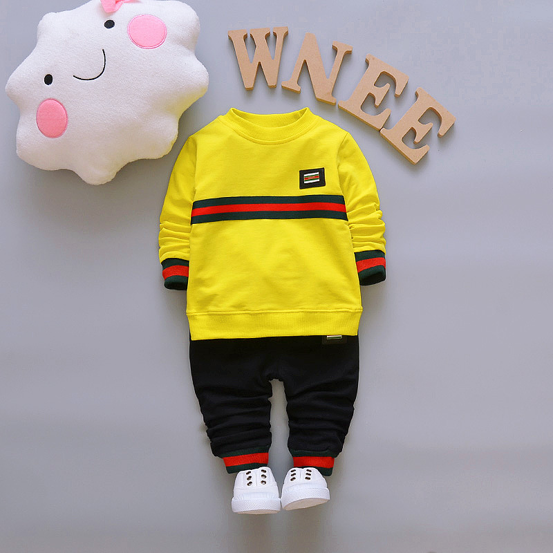 baby boys sets striped T shirt+pants 2pcs baby boy clothing suit 2017 new spring autumn sports cotton suit children clothing set