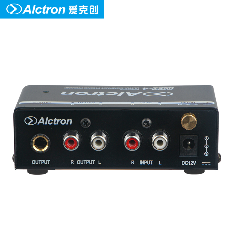 Alctron MX 4 mini preamplifier Ultra Compact Old fashioned Phono Preamplifier transistor amplification noise reduction circuit