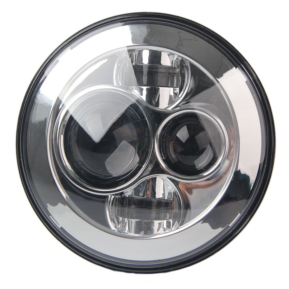 7inch Motorcycle Projector H4 H13 LED Hi/Lo Beam Headlight Projector With Angel Eye Light For Harley For Wrangler 1pcs 5 75 inch led motorcycle projector daymakers 5 75 inch headlight for harleys dyan h4 hi lo beam lights lamp bulb angle eye