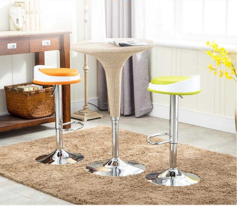 bar fashion chair cafe house lifting stool green orange color bar chair retail wholesale stool shop free shipping универсальная овощечистка 3 в 1 10 5 9 5 2 3 см cl 4005