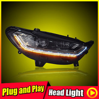 For 2013 Ford Mondeo Headlights Projector Lens Day Light LED Strip