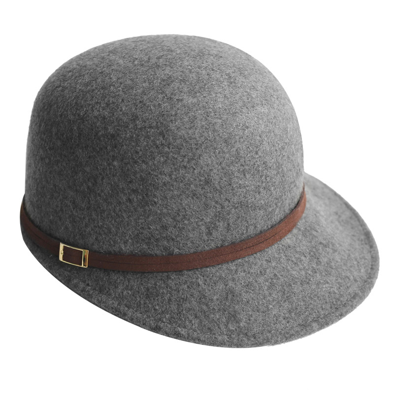 458a9f62e0f71 FS British Style Equestrian Cap Winter Wool Felt Hats For Women Wide Brim  Vintage Black Red View larger