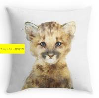 Cool Little Mountain Lion (two sides) printed Pillow Cases for 12 ''14''16''18'' 20'' 24'' inch free shipping