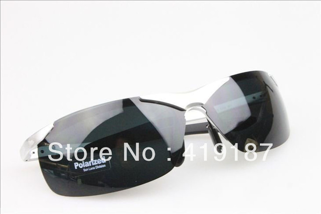 The new fashion male aluminum magnesium sports paragraph of the driver mirror sunglasses polarized sunglasses free shipping