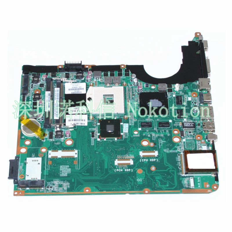 NOKOTION 574902-001 For Hp Pavilion DV6 DV6-2000 DV6T-2000 Laptop Motherboard PM55 DDR3 DA0UP6MB6E0 GeForce GT230M nokotion sps v000198120 for toshiba satellite a500 a505 motherboard intel gm45 ddr2 6050a2323101 mb a01