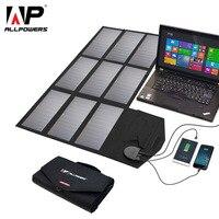 ALLPOWERS Portable 5V 12V 18V 60W USB Solar Cells Panel Power Bank Camping Folding Solar Charger