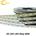 24V LED Strip 5050 NO Waterproof / Waterproof 60 LEDs/m Flexible LED Light 5m/lot RGB / White / Warm White / Red / Green / Blue