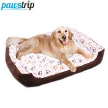 3 Colors Paw Dog Beds Nest Waterproof Bottom Fleece Winter Warm Pet Dog Bed Cushion For Big Dogs XXS-XL